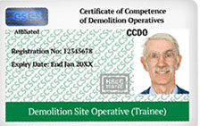 Demolition Labourer Card License