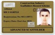 CISRS Advanced Scaffolder Card