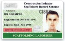 CISRS Scaffolder Labourer