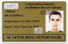 CISRS Scaffolding Supervisor
