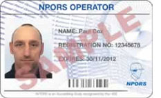 NPORS Card License
