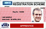 Apprentice and Trainee Registration Card