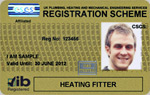 Heating Fitter Gold Registration Card