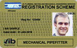 Mechanical Pipe Fitter Gold Registration Card