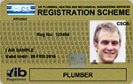 Plumber Gold Registration Card