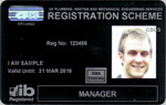 Plumbing Manager Registration Card
