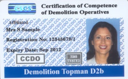 Demolition Operative Card