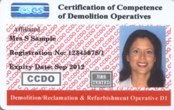 Demolition, Reclamation and Refurbishment Operative