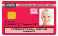Red Experienced CSCS Card