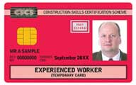 Red Experienced Worker CSCS Card