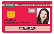 Red Provisional CSCS Card