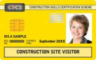 Yellow Visitor CSCS Card